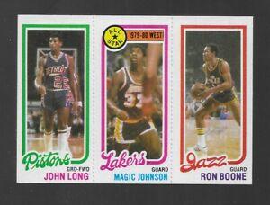 1980-81 TOPPS BASKETBALL MAGIC JOHNSON ROOKIE JOHN LONG RON BOONE NICE CARD