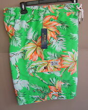NWT $85 POLO RALPH LAUREN Men M TROPICAL KAILUA SWIM TRUNK BOARDSHORT Green Palm