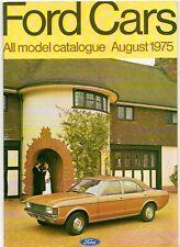 Ford Cars August 1975 UK Market Brochure Escort Cortina Capri Consul Granada