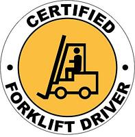 Forklift do stand on or under fork tines sticker 200mm twin pack quality vinyl