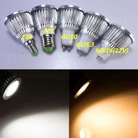 12W GU10 E27 COB LED Bulbs Spotlight White Warm White AC100-245 Lamp High Power