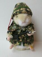 "2003 Gemmy Dancing Hamster Sgt. Scruffy Animated Musical 7"" Toy  PD26"