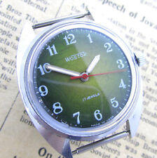 VOSTOK 2409A MILITARY GREEN Vintage 70s Army Military Soviet Russian Mens Watch