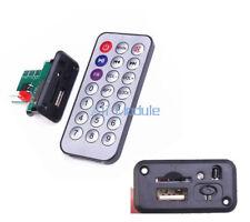 New Mini MP3 Decoder Board 5V/12V USB TF Reader+IR Remote MP3 Player for Car am
