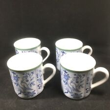 4 Villeroy & Boch Switch 3 Cordoba Coffee Mugs Scalloped Birds Flowers