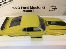 DANBURY MINT 1970 Ford Mustang Mach 1 Bright Yellow 1/24 Diecast NIB RARE!!
