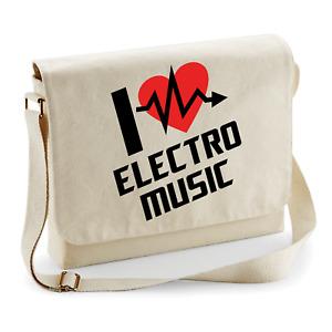 I Love Electro Music Party Dj Edm Techno Trance Fun Shoulder Bag Messenger Bag