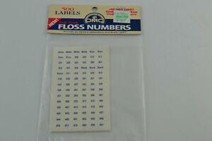 Self-Stick DMC 500 Labels Solids Variegated Blank Floss Skeins Thread Numbers