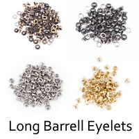 4mm-14mm Long Barrell Eyelets Grommets Washers Banner Leather Belts Bags Canvas