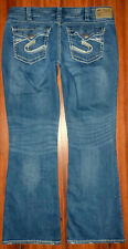 WOMENS SILVER BRAND SUKI SURPLUS BOOTCUT MED WASH STRETCH DISTRESSED JEANS 36X32