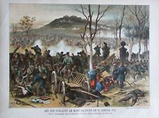 Aus der Schlacht am Mont Valerien Görlitzer Jäger - Kunstblatt aus ca. 1890