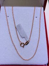 """14k Solid Rose Gold Flexible Cute Chain Necklace.Length 18"""". Retail $299"""