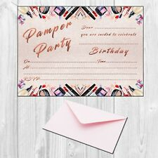 Pamper Party Invitations -  Girls Birthday Invites - Pack of 10 - Postcard size