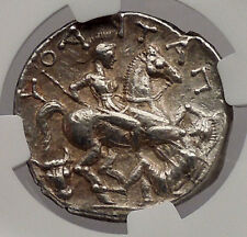Patraos King of Paeonia 335Bc Ngc Certified Ch Xf Silver Tetradrachm Coin i54736