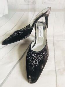 👠D&G 👠 womens Shoes BLACK sexy HEELS Stiletto Slides sandals 11 mule Pumps USA