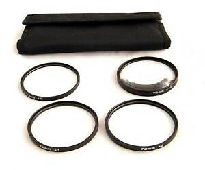 72mm Filter Thread Macro Close Up Filter Set +1 +2 +4 +10 + Case Filter-M72
