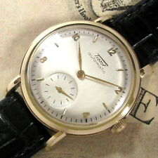 Mens 1950 Tissot 14K SOLID GOLD Bumper Automatic 28 Caliber Vintage Swiss Watch