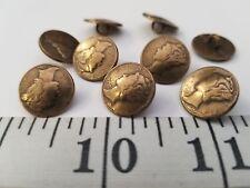 VINTAGE BUTTONS SET OF 12 ANTIQUE METAL GOLD LIBERTY TUZ2872 LAST!
