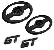 1- BRAND NEW SCION FR-S GT Front & Rear Badge Emblem (GT OVAL M BLACK PAIR w/GT)