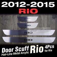 Hairline Metal Aluminum Door Sill Scuff Plate 4Pcs for KIA 2012-2016 Rio Pride