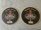 HESTON SUSAC 2015 Game Used SF Giants 2014 World Series Ring Ceremony GOLD DISC