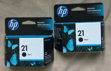 Lot Of 2 HP 21 Ink Cartridges Black C9351AN 140 Exp 4.2015 Sealed