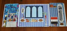Vintage 1970 Barbie Lively Livin House Panel Part Wall Bedroom Mirror Blue