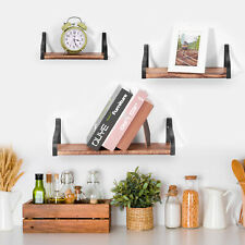 3 Pcs Wall Floating Shelves Wood for Bathroom Living Room Bedroom Office