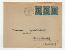 Algérie Oran FR 3 timbres sur lettre 1951 tampon Mostaganem /L61