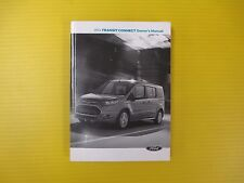 Transit Connect 14 2014 Ford Owners Owner's Manual With MyFord Touch Navigation