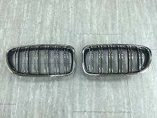 Front Kidney Grilles Chrome Frame & Fence M5-Look For '2010-'2014 BMW F10/F11