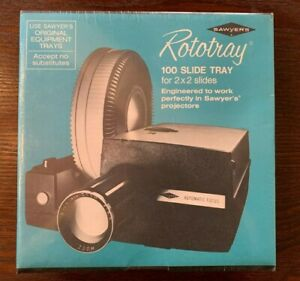 """Vintage Sawyer's Carousel Photo Tray, Holds 100 2"""" x 2"""" Project Slides - Sealed!"""