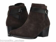 Coach Patricia Ankle Boots Chestnut Suede Zip Womens 9.5 NEW IN BOX
