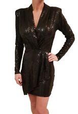 JOHN ZACK black sequin  V NECK size 10