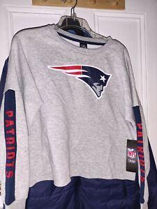 New England Patriots football  Sweatshirt NFL apparel Pullover Shirt  Ladies L