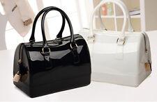 Women Ladies Jelly Handbag Candy Shoulder Bag Satchel  Bucket Bag 12 Color