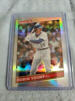 Robin Yount 2020 Donruss Optic 1986 Silver Holo Milwaukee Brewers