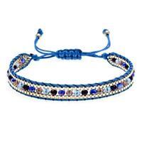 Einstellbare Perlen Boho Baumwolle Schnur Schmuck Perle Armband Fußkettchen S3N2