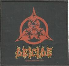 DEICIDE 3 star logo 2003 WOVEN SEW ON PATCH official merch - no longer made RARE