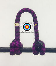 1 Pack- Speckled  Flo Purple/Black  Archery Release Bow String D Loop, BCY #24