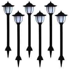 vidaXL 6x Lampade Solari da Esterni a LED Nero Illuminazione Lampioni Giardino