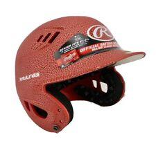 New Rawlings Batting Helmet Sz Adult 6 7/8 7 5/8 Red Crackled Padded