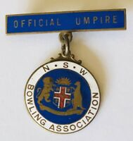 Official Umpire NSW Bowling Club Badge Pin Rare Vintage (L31)