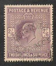 Great Britain #139 (SG #261) VF-XF Used - 2sh6p King Edward VII - SCV $150
