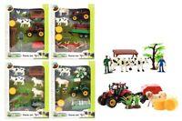 Toi-Toys 28001Z Bauernhof Set Tiere Anhänger Traktoren Mähdreschern