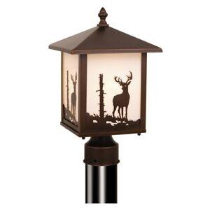 Vaxcel Bryce Outdoor Post Light (Deer) - OP33585BBZ