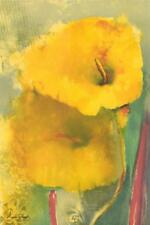 Vicky Montesinos Yellow Lily Hand Signed Lithograph