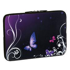 Design Schutzhülle 15,6 Zoll (39,6cm) Notebook Laptop Tasche - purple butterfly