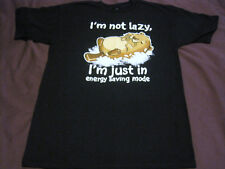 Teefury I'm Not Lazy I'm In Energy Saving Mode T-Shirt Men's Medium Black New