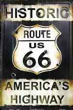 """Historic Route 66 America's Highway 8"""" x12"""" Aluminum Sign NEW MADE IN THE USA"""